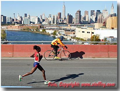Mary Keitany siegt 2014 beim New York City Marathon